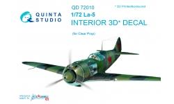 Ла-5 Лавочкин. 3D декали (CLEAR PROP) - QUINTA STUDIO QD72010 1/72