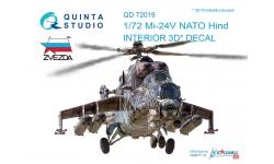 Ми-24В Миль. 3D декали (ЗВЕЗДА) - QUINTA STUDIO QD72019 1/72