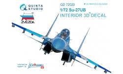 Су-27УБ Сухой. 3D декали (ЗВЕЗДА) - QUINTA STUDIO QD72020 1/72