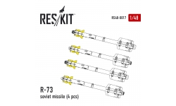 """Ракета авиационная Р-73 (AA-11 Archer) класса """"воздух-воздух"""" - RESKIT RS48-0017 1/48"""