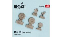 МиГ-15 Микоян и Гуревич. Колеса шасси - RESKIT RS48-0080 1/48