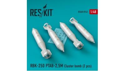 Бомба авиационная РБК-250 ПТАБ-2,5М - RESKIT RS48-0141 1/48