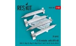 """Ракета авиационная С-24Б класса """"воздух-поверхность"""" - RESKIT RS48-0180 1/48"""