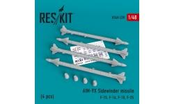 """Ракета авиационная AIM-9X Sidewinder класса """"воздух-воздух"""" - RESKIT RS48-0239 1/48"""