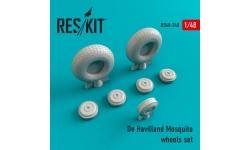 Mosquito De Havilland, Tsetse. Колеса шасси - RESKIT RS48-0240 1/48