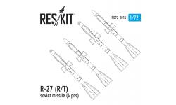 """Ракета авиационная Р-27Р/Т (АА-10 Alamo) класса """"воздух-воздух"""" - RESKIT RS72-0015 1/72"""