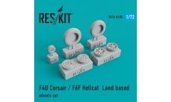 F4U Chance Vought, Corsair & F6F Grumman, Hellcat. Колеса шасси - RESKIT RS72-0105 1/72