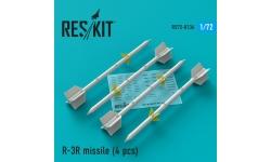 """Ракета авиационная Р-3Р класса """"воздух-воздух"""" - RESKIT RS72-0136 1/72"""