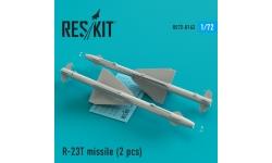 """Ракета авиационная Р-23Т класса """"воздух-воздух"""" - RESKIT RS72-0162 1/72"""