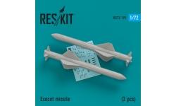 Ракета авиационная противокорабельная AM39 Aerospatiale, Exocet - RESKIT RS72-0195 1/72