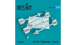 """Ракета авиационная AIM-9D Sidewinder класса """"воздух-воздух"""" - RESKIT RS72-0233 1/72"""