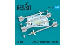 """Ракета авиационная AIM-9J Sidewinder класса """"воздух-воздух"""" - RESKIT RS72-0235 1/72"""