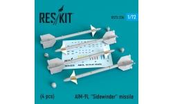 """Ракета авиационная AIM-9L Sidewinder класса """"воздух-воздух"""" - RESKIT RS72-0236 1/72"""
