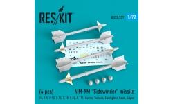 """Ракета авиационная AIM-9M Sidewinder класса """"воздух-воздух"""" - RESKIT RS72-0237 1/72"""