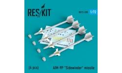 """Ракета авиационная AIM-9P Sidewinder класса """"воздух-воздух"""" - RESKIT RS72-0238 1/72"""