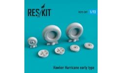Hurricane Hawker. Колеса шасси - RESKIT RS72-0287 1/72
