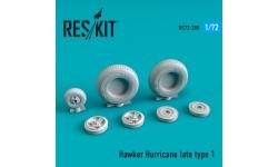 Hurricane Hawker. Колеса шасси - RESKIT RS72-0288 1/72