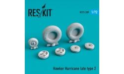 Hurricane Hawker. Колеса шасси - RESKIT RS72-0289 1/72