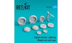 Lightning English Electric (BAC). Колеса шасси - RESKIT RS72-0301 1/72