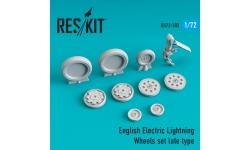 Lightning English Electric (BAC). Колеса шасси - RESKIT RS72-0302 1/72