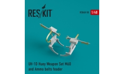 UH-1D Bell, Iroquois, Delta Huey. Конверсионный набор - RESKIT RSU48-0050 1/48