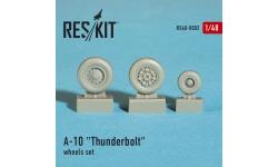 A-10 Fairchild Republic, Thunderbolt II. Колеса шасси - RESKIT RS48-0002 1/48