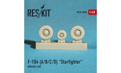 F-104A/B/C/D/CF-104/D Lockheed, Starfighter. Колеса шасси - RESKIT RS48-0008 1/48