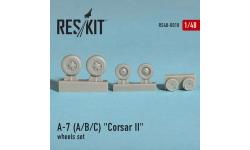 A-7A/B/C/E Ling-Temco-Vought, Corsair II. Колеса шасси - RESKIT RS48-0018 1/48