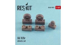 Kfir C-1/C-2/C-7/F-21A Lion IAI. Колеса шасси - RESKIT RS48-0051 1/48