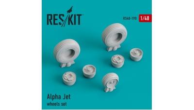 Alpha Jet A/E Dassault-Breguet, Dornier. Колеса шасси - RESKIT RS48-0190 1/48