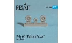F-16A General Dynamics, Fighting Falcon. Колеса шасси - RESKIT RS72-0023 1/72