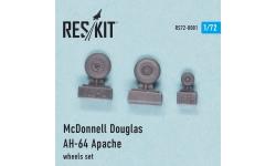 AH-64 Boeing, McDonnell Douglas, Apache. Колеса шасси - RESKIT RS72-0081 1/72