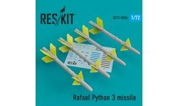 """Ракета авиационная Python-3 Rafael класса """"воздух-воздух"""" - RESKIT RS72-0084 1/72"""