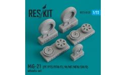 МиГ-21ПФ/ПФС/ПФМ/ФЛ/М/МФ/МФН/СМ/Р. Колеса шасси - RESKIT RS72-0122 1/72