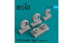 F-8 Vought, Crusader. Колеса шасси - RESKIT RS72-0164 1/72