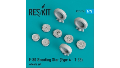 T-33A Lockheed / Kawasaki, Shooting Star. Колеса шасси - RESKIT RS72-0174 1/72