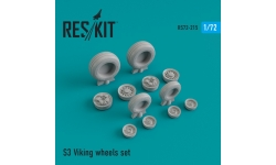 S-3 Lockheed, Viking. Колеса шасси - RESKIT RS72-0215 1/72