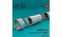Mirage IIIE Dassault. Конверсионный набор (KINETIC) - RESKIT RSU48-0015 1/48