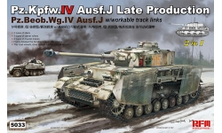 Pz.Kpfw. IV & Pz.Beob.Wg. IV, Sd.Kfz.161/2, Ausf. J, T-IV, Krupp - RYEFIELD MODEL RM-5033 1/35