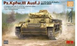 Panzerkampfwagen III, Sd.Kfz. 141, Ausf. J, T-III, Daimler-Benz - RYEFIELD MODEL RM-5070 1/35