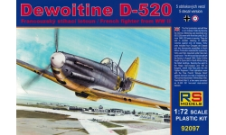 Dewoitine D.520 SNCAM - RS MODELS 92097 1/72
