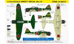 A6M2b Type 21 Mitsubishi - SWEET 14-D013 1/144