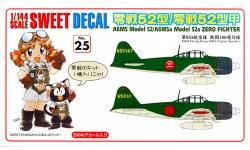A6M5 & A6M5a Type 52/52a Mitsubishi - SWEET 14-D025 1/114