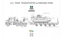 M1A2 SEP General Dynamics, Abrams / M1070A Oshkosh / M1000 - TAKOM 5002X 1/72