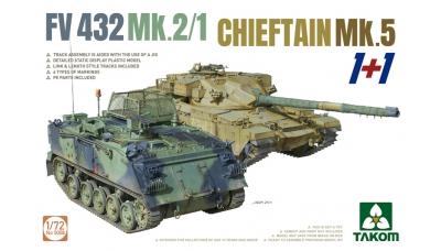 FV432 Mk. 2/1 GKN Sankey / FV4201 Leyland Motors, Chieftain Mk. 5 - TAKOM 5008 1/72