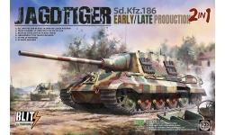 Panzerjäger Tiger, Sd. Kfz. 186, Ausf. B, Henschel, Jagdtiger - TAKOM 8001 1/35