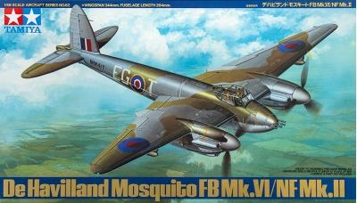 Mosquito FB Mk. VI & NF Mk. II De Havilland - TAMIYA 61062 1/48