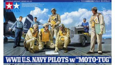 Экипаж, палубная команда, тягач авиационный ВВС ВМФ США - TAMIYA 61107 1/48