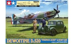 Dewoitine D.520 & Citroën Traction Avant 11CV - TAMIYA 61109 1/48