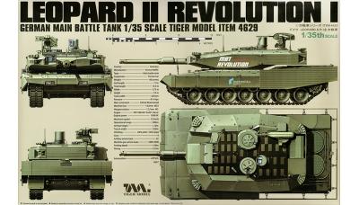 Leopard 2A4 MBT Revolution I KMW, Rheinmetall - TIGER MODEL 4629 1/35